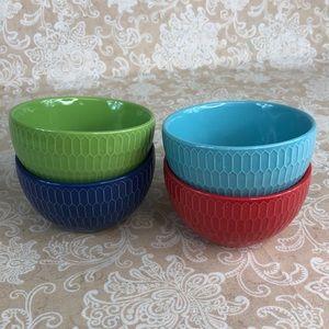 Stoneware Kitchen - Stoneware 4 Multi Color Small Bowls